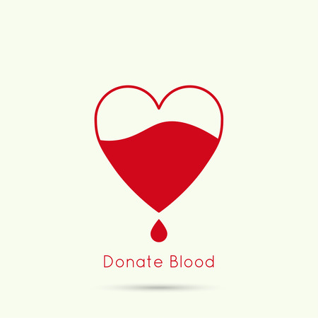 medics: logotype blood donation, help the sick and needy. Heart with drop of blood