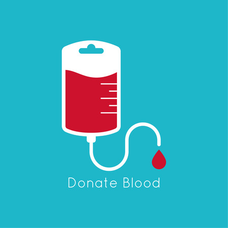 logotype blood donation, help the sick and needy. dropper with a drop of blood