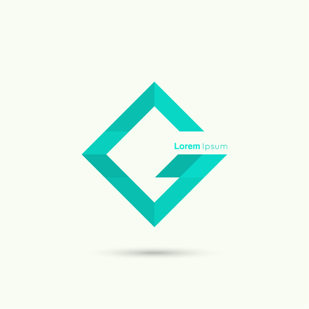 letter g: Abstract vector logo design template. cyan. Corporate Identity, letter g