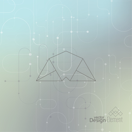 cd label: Abstract neat Blurred Background. Hipster Geometric shape, line and dot. Modern Signs, Label. For cover book, brochure, flyer, poster, magazine, cd, website, app mobile, annual report, T-shirt, logo Illustration