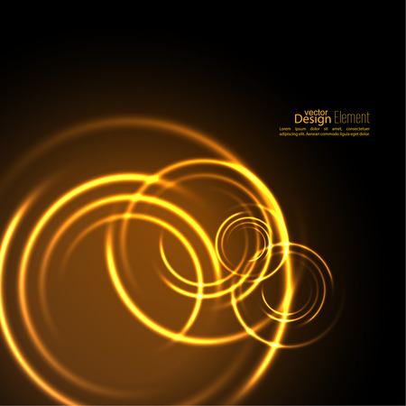 Abstract background with luminous swirling backdrop.  Intersection curves. Glowing spiral. The energy flow tunnel. Fire circles. Vector