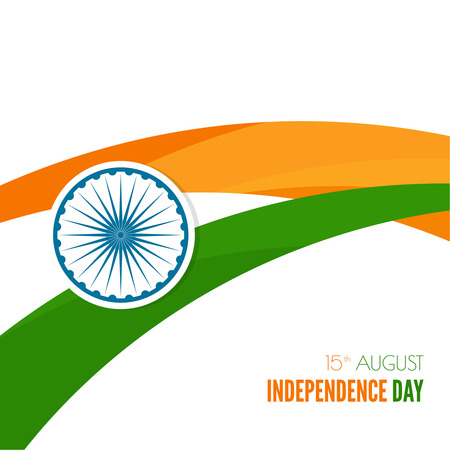 15 august: Abstract background with the symbol of India. The tricolor flag forfor Indian Republic day and Independence Day.