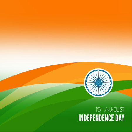 ashok: Abstract background with the symbol of India. The tricolor flag forfor Indian Republic day and Independence Day.