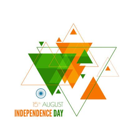 independencia: Resumen de fondo con el s�mbolo de la India. La bandera tricolor forfor Rep�blica d�as �ndico y el D�a de la Independencia. Vectores