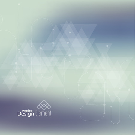 translucent: Abstract blurred background with hipster triangles. scheme lines and dots.  Triangle pattern background. For cover book, brochure, flyer, poster, magazine, cd cover, t-shirt. Vector design.