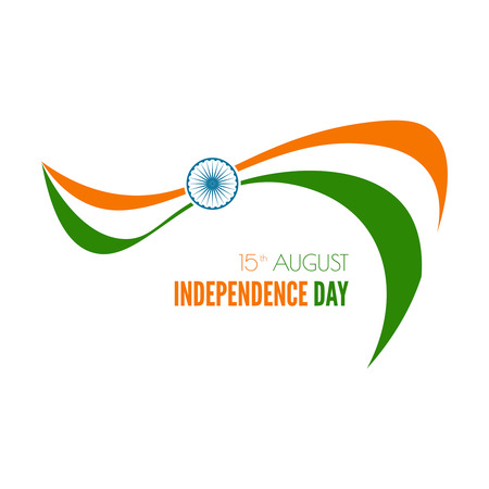 independence: Abstract background with the symbol of India. The tricolor flag forfor Indian Republic day and Independence Day.
