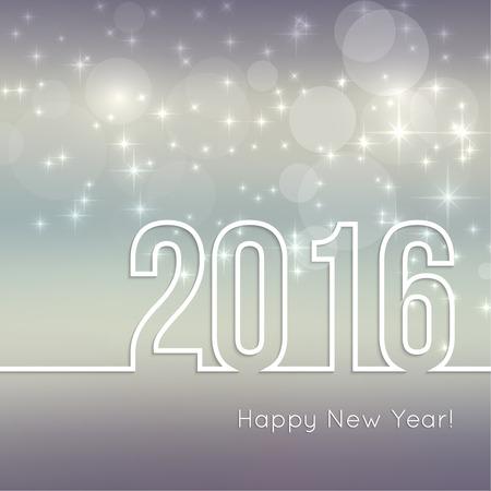 fondo para tarjetas: Vector de fondo borrosa abstracto con las estrellas de la chispa. Feliz A�o Nuevo 2016. Para fiestas decoraciones, navidad, d�a de fiesta de glamour, iluminado, celebraci�n