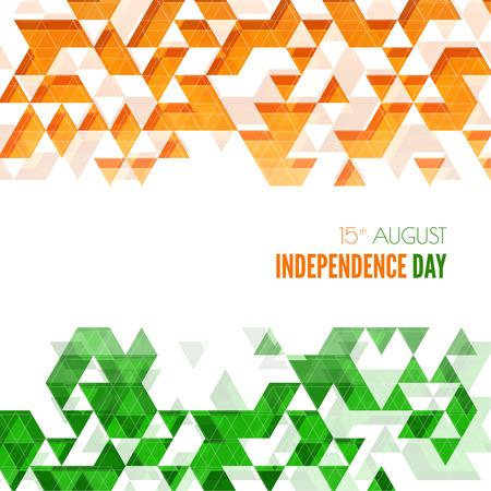 bandera blanca: Resumen de fondo con el s�mbolo de la India. La bandera tricolor forfor Rep�blica d�as �ndico y el D�a de la Independencia. Vectores