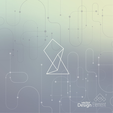 book cover: Abstract neat Blurred Background. Hipster Geometric shape, line and dot. Modern Signs, Label. For cover book, brochure, flyer, poster, magazine, cd, website, app mobile, annual report, T-shirt, logo Illustration