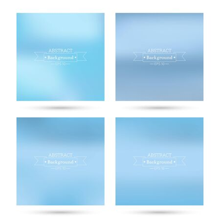 poster backgrounds: Set of vector colorful abstract backgrounds blurred. For mobile app, book cover, booklet, background, poster, web sites, annual reports. blue, pastel, sky