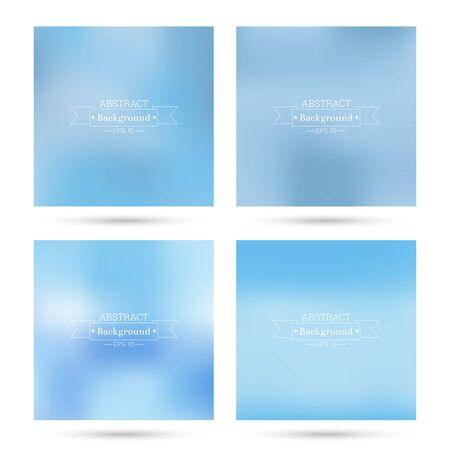 fondos azules: Conjunto de vectores de fondos abstractos coloridos borrosa. Para la aplicación móvil, de libro, folleto, el fondo, el cartel, sitios web, informes anuales. azul, en colores pastel, cielo