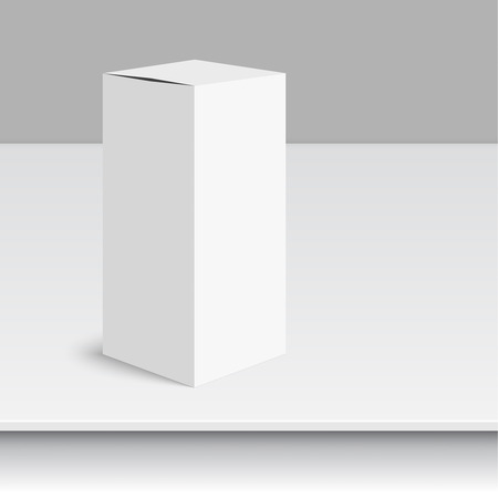 shipped: Package white box on a white background. vector