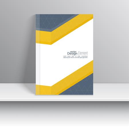učebnice: Magazine Cover s origami protínajícími stuhami. Pro knihy, brožury, leták, plakát, prospektů, leták, cd obalový design, pohlednice, vizitky, výroční zprávy. vektorové ilustrace. abstraktní pozadí