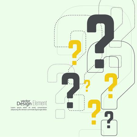 signo de interrogación: Icono de signo de interrogación. Símbolo de Ayuda. FAQ firmar en el fondo. vector