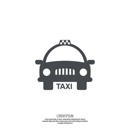 passengers: Taxi sign. The machine cab for quick transport of passengers. minimal. flat design. Outline Illustration