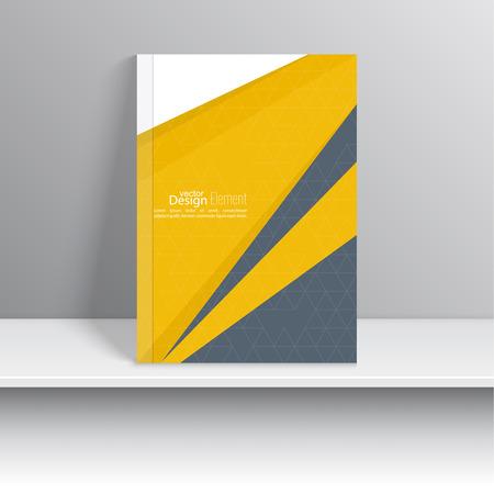 marca libros: La portada de revista con cintas de intersección origami. Para el libro, folleto, folleto, cartel, folleto, folleto, diseño de portada de CD, tarjetas postales, tarjetas de visita, el informe anual. ilustración vectorial. resumen de antecedentes