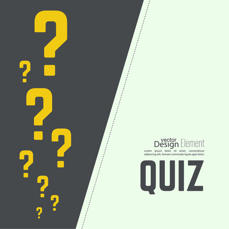query mark: Quiz background. The concept is the question with the answer. vector.