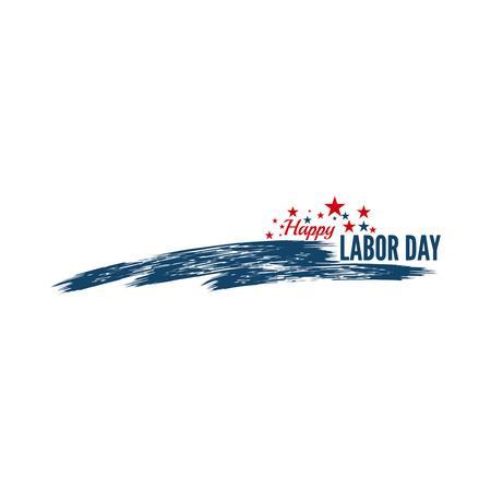 Labeldag banner. Nationale Dag van de Verenigde Staten van Amerika