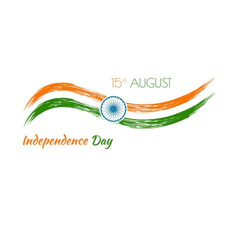 constitucion: Resumen de fondo con el símbolo de la India. La bandera tricolor forfor República días Índico y el Día de la Independencia. Vectores