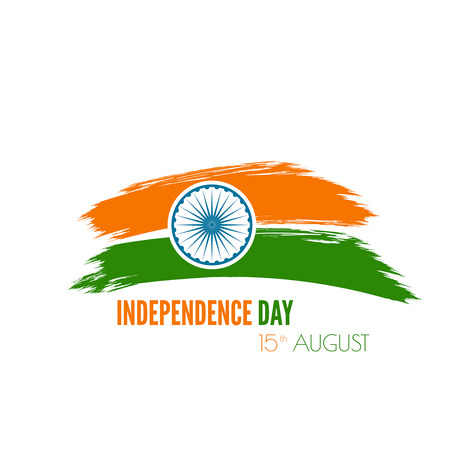 Abstract background with the symbol of India. The tricolor flag forfor Indian Republic day and Independence Day.