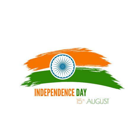 bandera de la india: Resumen de fondo con el s�mbolo de la India. La bandera tricolor forfor Rep�blica d�as �ndico y el D�a de la Independencia. Vectores