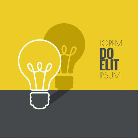 Bulb light idea. flat design. concept  of ideas inspiration innovation, invention, effective thinking