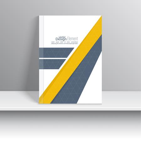 marca libros: La portada de revista con cintas de intersecci�n origami.