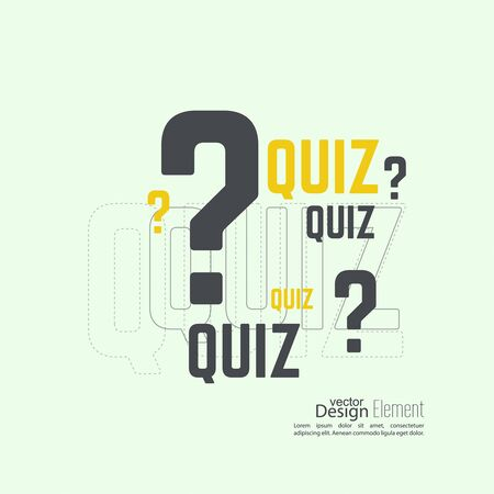 questions answers: Quiz background. The concept is the question with the answer. vector.