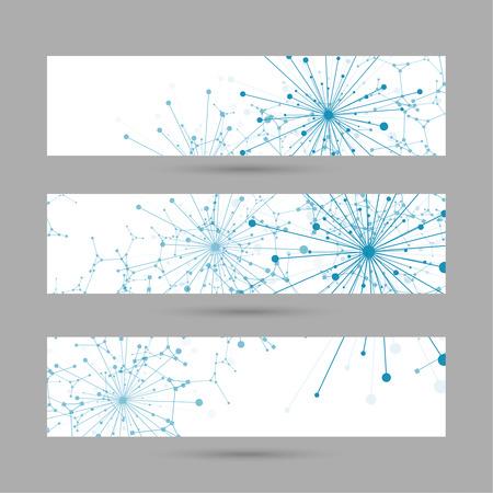 Matriz con partículas emitidas dinámicos, átomo, de punto. estructura de la molécula de nodo. Ciencia y concepto de conexión. Explosión y destrucción. Techno Investigación. Para la web, aplicaciones móviles, el informe anual. Foto de archivo - 43504432