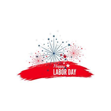 labour: Labor day banner. National Day of the United States of America