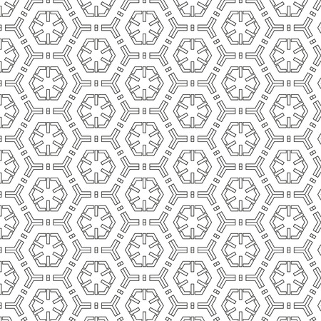 pattern of geometric shapes: Vector abstract seamless pattern. Repeating geometric tiles with hexagonal mesh of triangles and geometric shapes