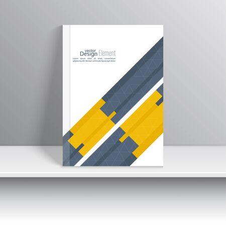 portada de revista: La portada de revista con cintas de intersecci�n origami.