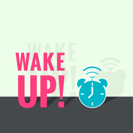 early morning: Background with alarm clock.
