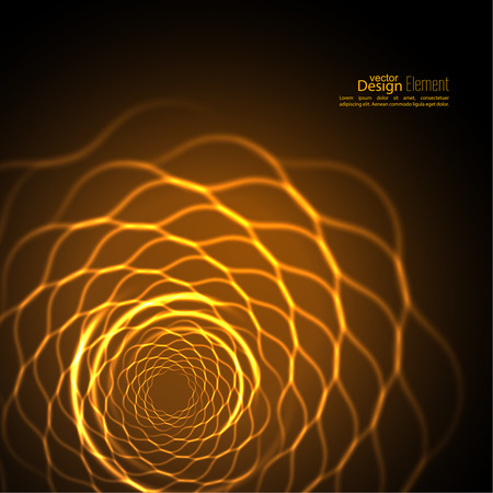 spiral: Abstract background with luminous fractal, geometry, mesh element.