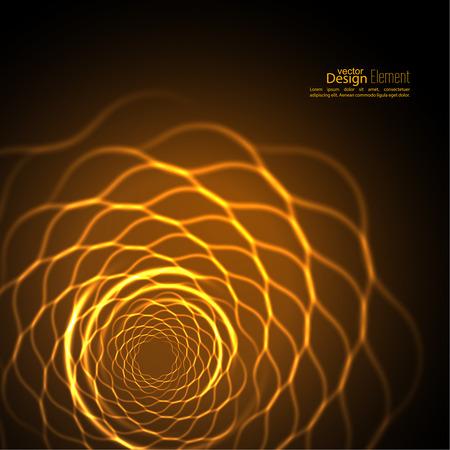 geometría: Fondo abstracto con fractal luminosa, geometría, elemento de malla.