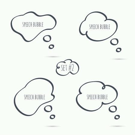 brush: Set hand drawn speech bubble. Vector. Elements for text Illustration