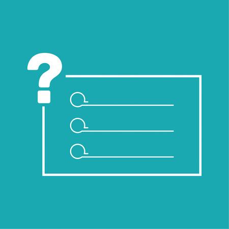 questionail: Icono de signo de interrogaci�n. S�mbolo de Ayuda. Signo de preguntas frecuentes. vector