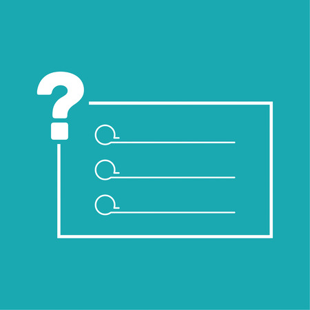 questionably: Question mark icon. Help symbol. FAQ sign. vector