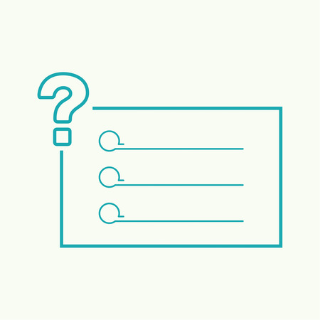 questionail: Question mark icon. Help symbol. FAQ sign. vector