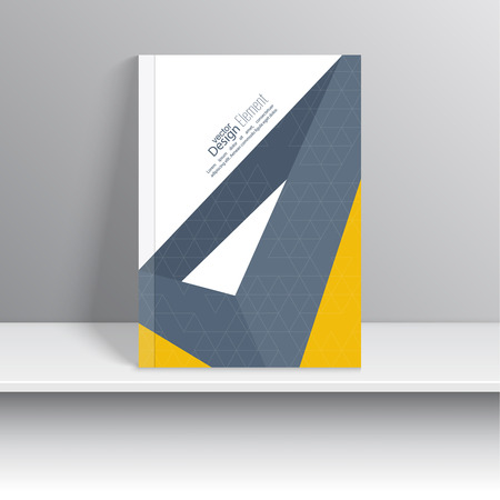 magazine design: Magazine Cover with origami intersecting ribbons. For book, brochure, flyer, poster, booklet, leaflet, cd cover design, postcard, business card, annual report. vector illustration. abstract background
