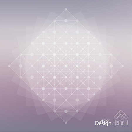 Abstract neat Blurred Background with a mesh structure. Low poly grid, dots and line.  For cover book, brochure, flyer, poster, magazine, cd cover design, t-shirt