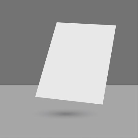 blank magazine: Hovering Blank empty magazine or book or booklet, brochure, catalog, leaflet, template on a gray background. vector Illustration
