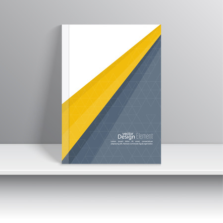 presentation card: Magazine Cover with origami intersecting ribbons. For book, brochure, flyer, poster, booklet, leaflet, cd cover design, postcard, business card, annual report. vector illustration. abstract background
