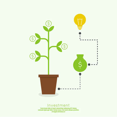 investment concept: The concept of business project. Cash investment idea and profit