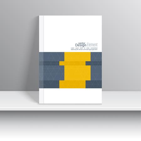 Dekking van het Tijdschrift met origami snijdende linten. Voor boek, brochure, flyer, poster, boekje, brochure, cd cover ontwerp, wenskaarten, visitekaartje, jaarverslag. vector illustratie. abstracte achtergrond