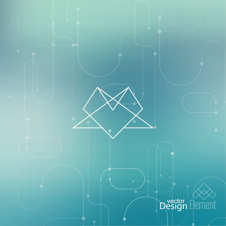 Abstract neat Blurred Background. Hipster Geometric shape, line and dot. Modern Signs, Label. For cover book, brochure, flyer, poster, magazine, cd, website, app mobile, annual report, T-shirt, logo Illustration