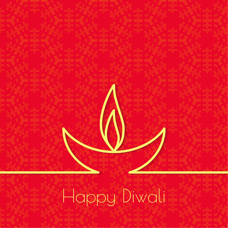 festive occasions: Abstract background with oil lit lamp with rangoli for Diwali celebration.