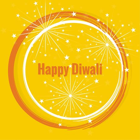 diwali celebration: Abstract background with circles and salute for Diwali celebration.