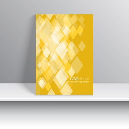 magazine cover: Magazine Cover with square, rhombus . For book, brochure, flyer, poster, booklet, leaflet, cd cover, postcard, business card, annual report. vector illustration. abstract background