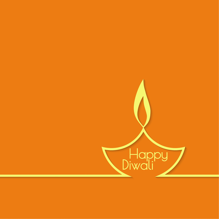 candil: Fondo abstracto con l�mpara de aceite encendida con rangoli de Diwali celebraci�n. Vectores